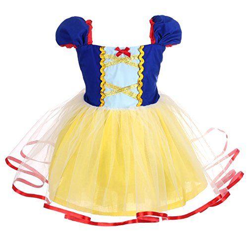 Girl Snow White Princess Tutu Dress Kid Halloween Cosplay Dress Xmas Party dress