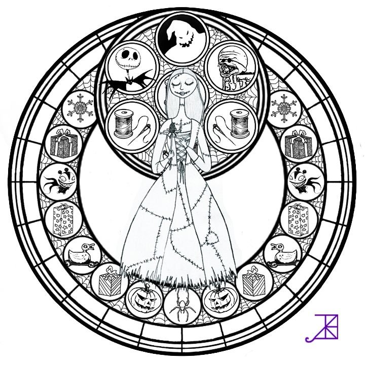 Sally Stained Glass -line art- by Akili-Amethyst on DeviantArt