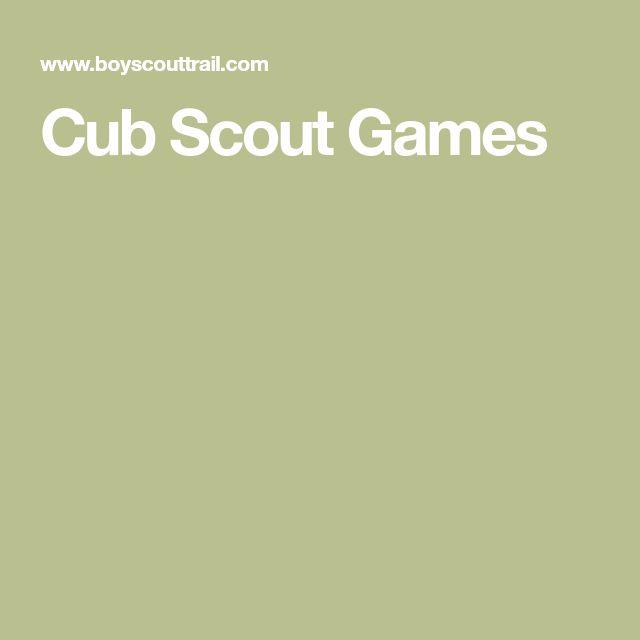 Cub Scout Games
