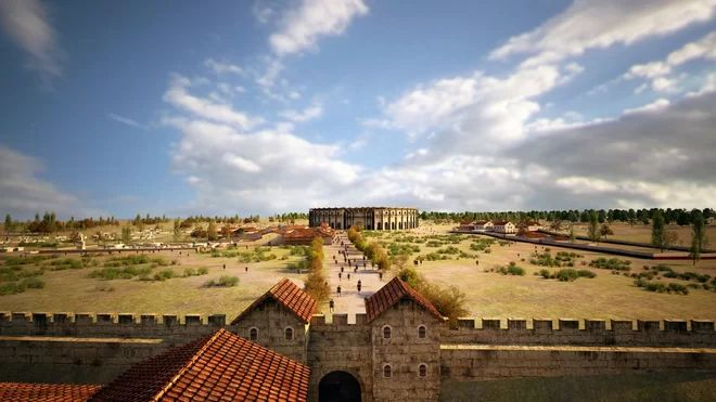 Ancient Concession Stands and Shops Found at Roman Gladiator Arena in Carnuntum (Austria).