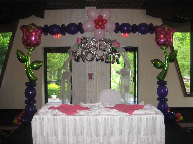 531 best images about baby shower balloon ideas on for Baby shower function decoration