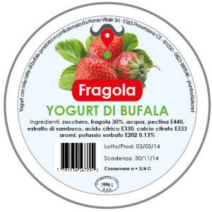 Yogurt di Bufala, gusto Fragola: http://www.puntovitale.net/shop/yogurt-di-latte-di-bufala/yogurt-alla-fragola