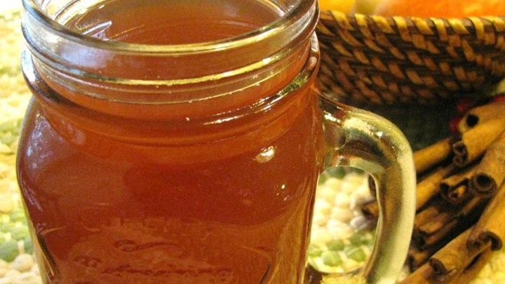 Orange tea, apple cider, rum, cinnamon sticks and butter - bound to warm you up on a cold winter's night!