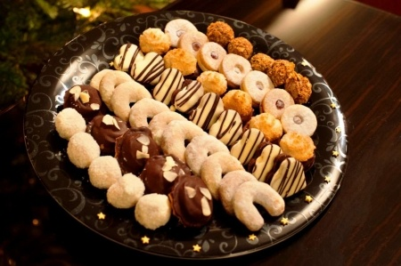 Typical delicious Czech Christmas pastries