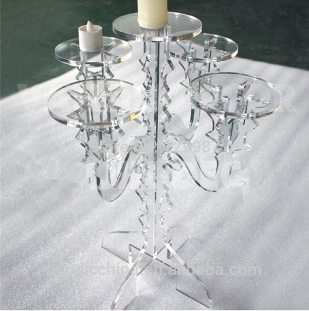 Source Plexiglass candle holder,romantic dinner table lucite acrylic candlestick holder on m.alibaba.com