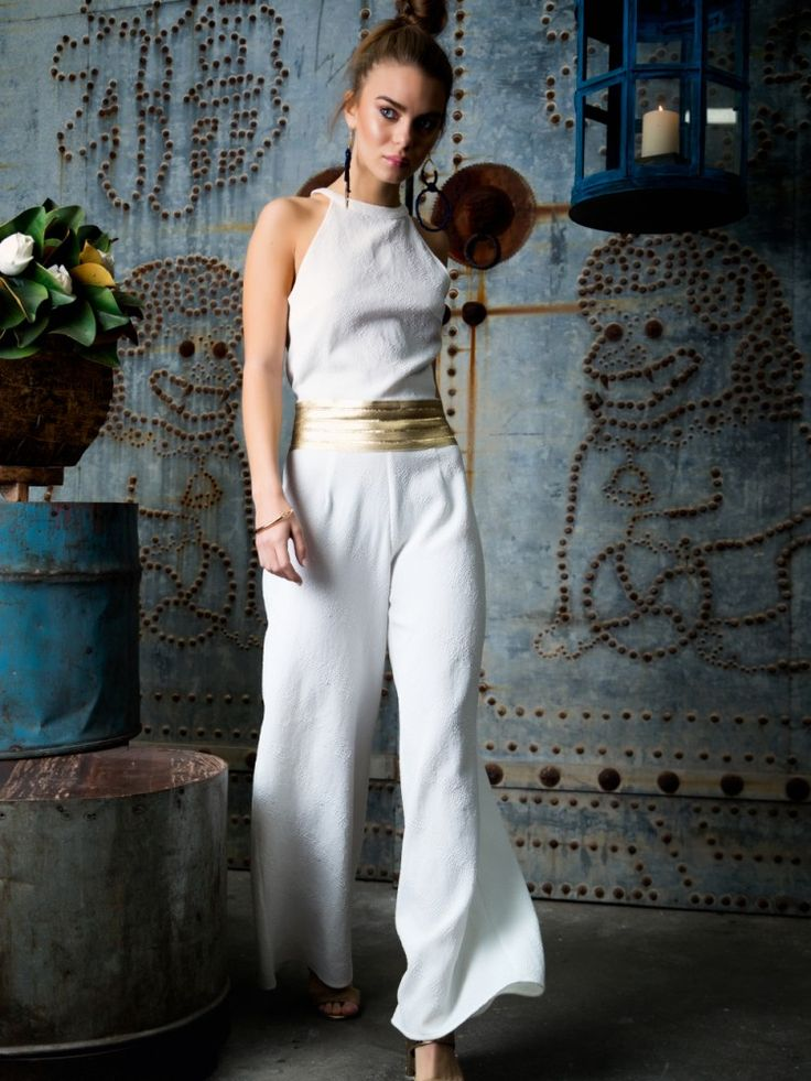 Ancient Soul Jumpsuit We are Warriors collection White & Gold Wolftress warrior