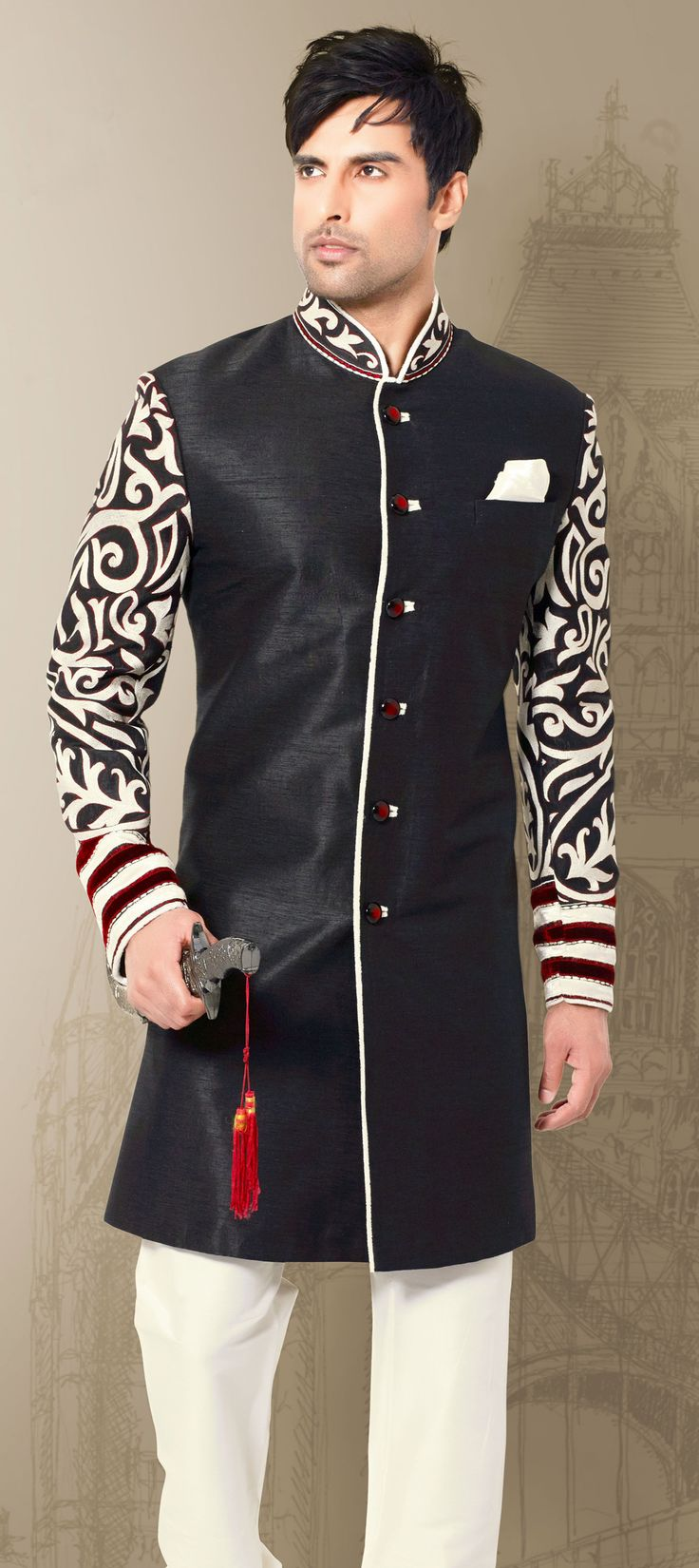 Ethnic Fashion Online Store: 500045: Rock The #monochrome, Men! Check Out This New