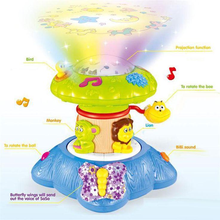 Nuovo Arrivo Del Bambino Musicale Dreamy Foresta Proiettore Luminoso Albero di Apprendimento Precoce Giocattolo Educativo Per Bambini Che Dormono Giocattoli Regalo Per I Bambini
