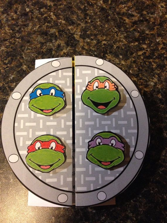 Teenage Mutant Ninja Turtle Birthday Invitation by ThompsonThreads, $30.00