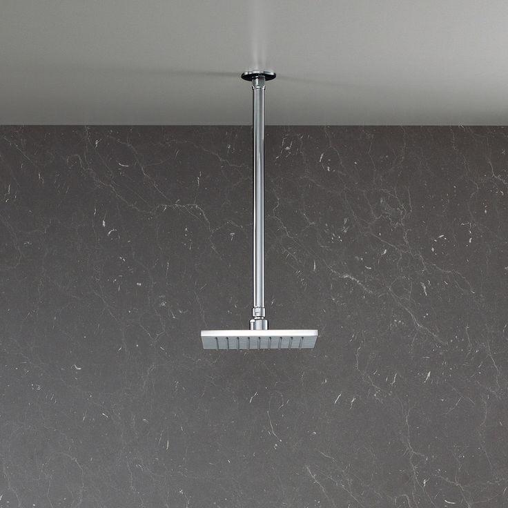 Track Overhead Rain Shower - Clean contemporary European Design.  http://www.caroma.com.au/bathrooms/showers/track/track-overhead-rain-shower