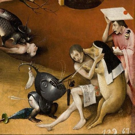 Hieronymus Bosch, The Garden of Earthly Delights (Detail) - 1505 on ArtStack #hieronymus-bosch #art