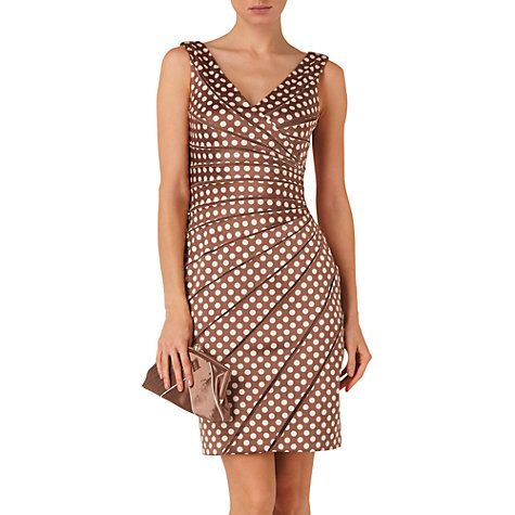 Buy Phase Eight Dolly Spot Dress, Praline/Cream Online at johnlewis.com