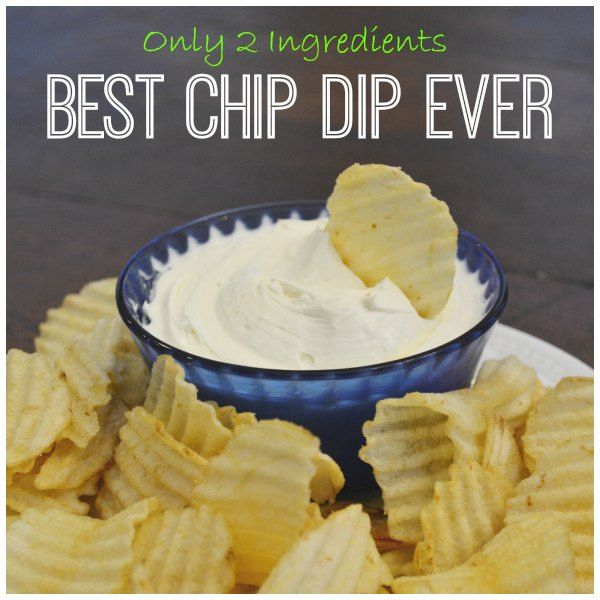 BEST TWO INGREDIENTS EVER!!!! Cream Cheese Dip: The Best Chip Dip Ever!!!