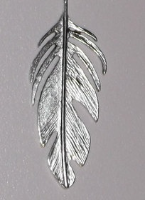 Silver Tone Feather Pendant with Beaded Necklace by GilbertsTree, $16.00