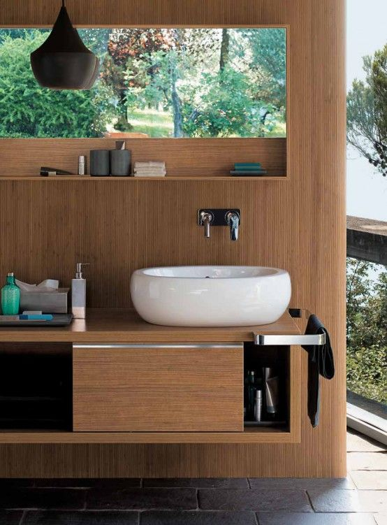 modern wooden bathroom designs. Interior Design Ideas. Home Design Ideas