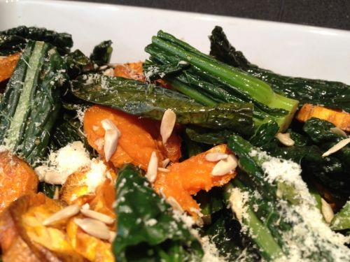 Tuscan Cabbage with roasted Sweet Potato -Try Tuscan Cabbage (Cavolo Nero) in this simple and wholesome recipe that will tempt your kids.  Kidsveges.com