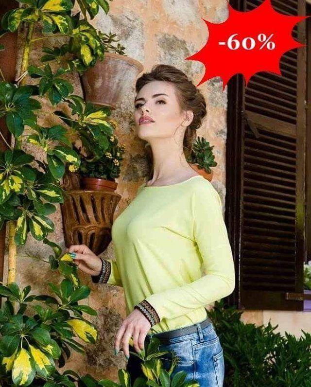 Urocza bluzka w kolorze limonkowym  Rękaw ozdobiony tasiemką z etnicznym wzorem  -60%  http://ift.tt/2gPaJLC