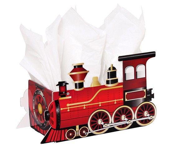 Large Intricut Box - Holiday Train 12½'' x 6'' x 7½''-46003