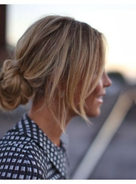 Coiffure cheveux attaches tendance hiver 2015