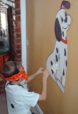 pin the tail on the puppy - The Dalmatian Party