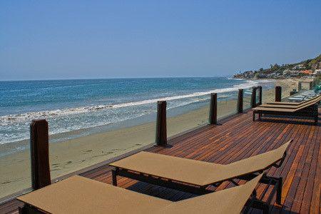 Beachside Deck - Leonardo DiCaprio's Malibu Beach House - Photos