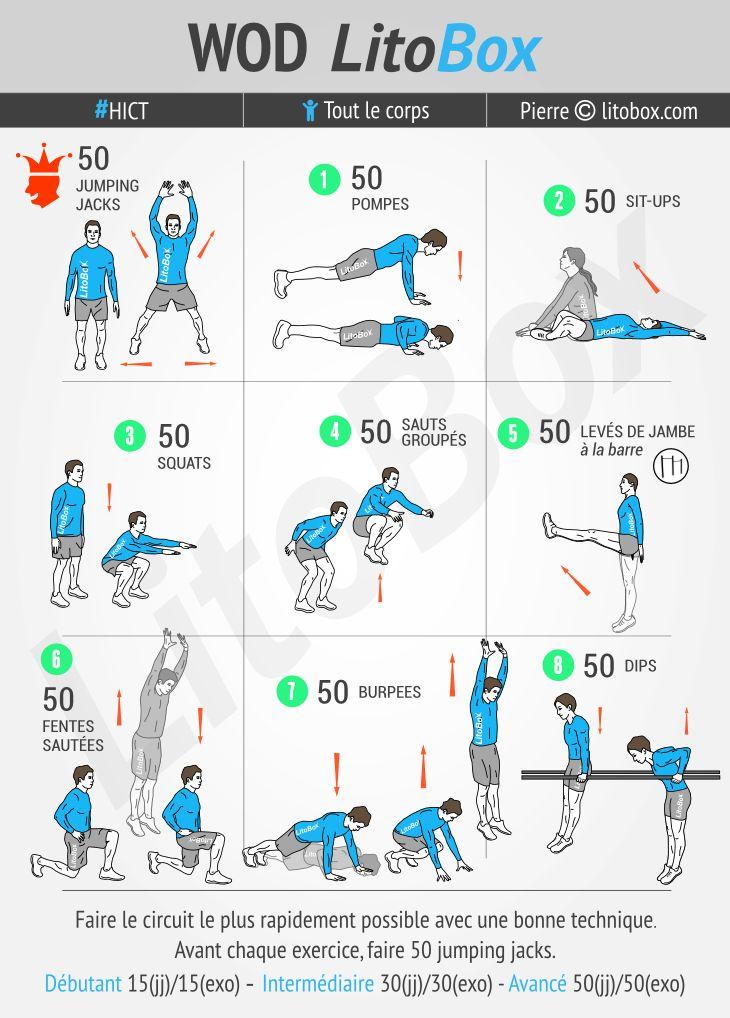 Pour anticiper la détente du week-end : aujourd'hui c'est 800 répétitions d'exercices au poids du corps !  + Pensez à partager ce WOD ou à tagger vos amis pour les motiver à s'entraîner et les challenger.  Bon courage et bon week-end.  Pierre.
