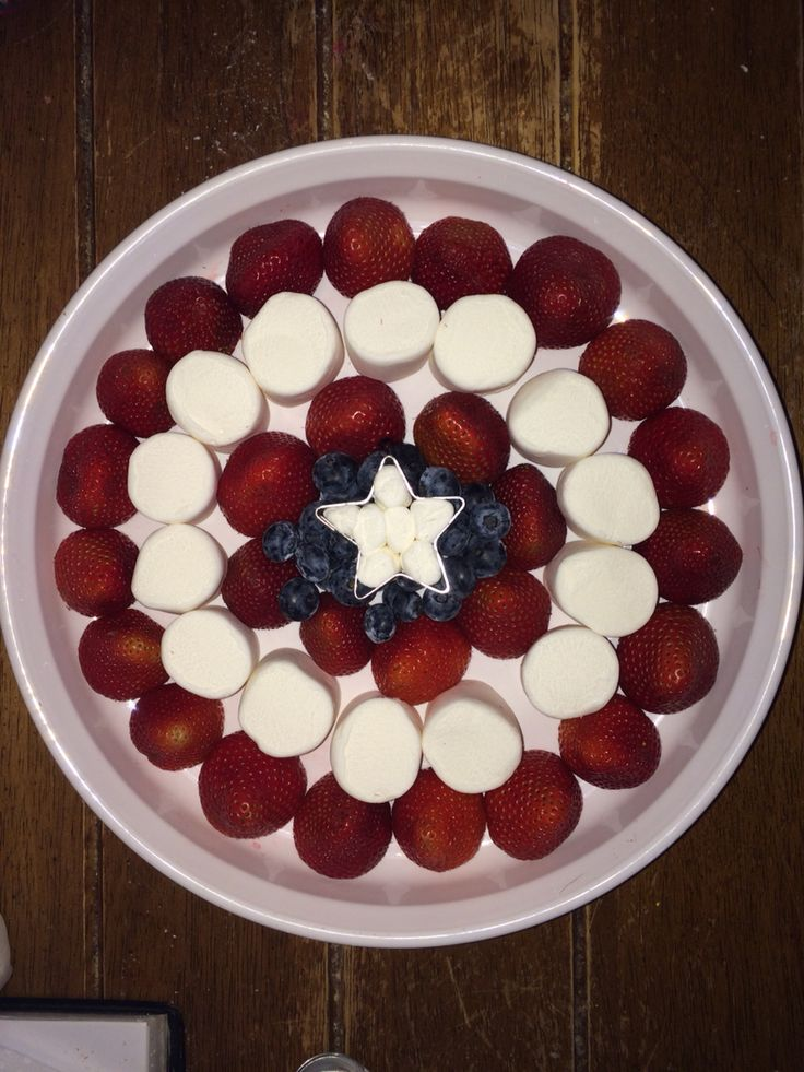 My Captain America fruit platter. Would be great for a superhero party!!!