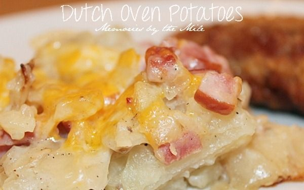 Dutch Oven Potatoes ... this sounds good and so easy to do.