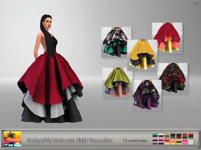 Astya96 Unicorn Skirt Recolor at Elfdor Sims