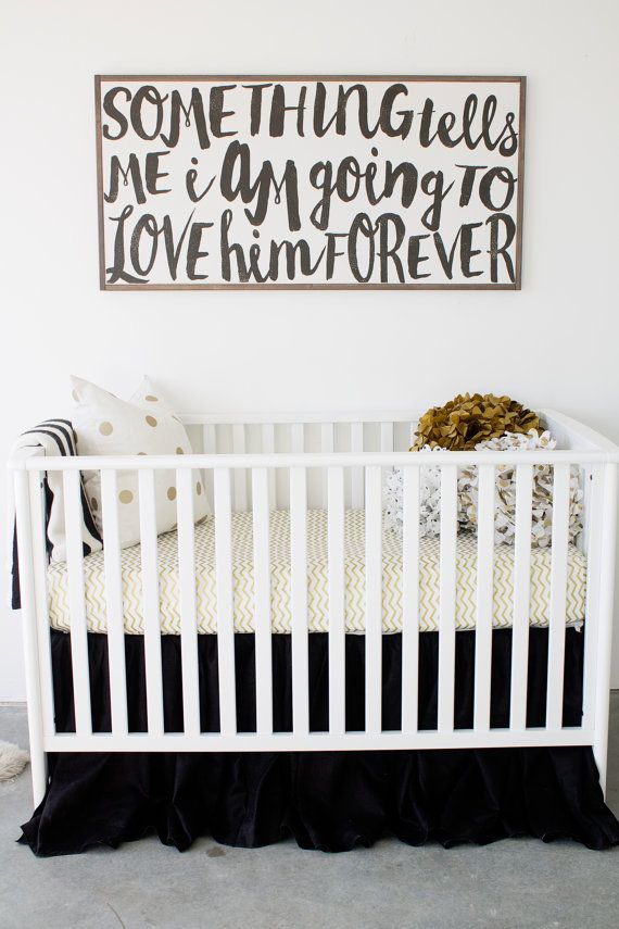 Love Him Forever Wooden Sign By TheHouseofBelonging On Etsy. Find This Pin  And More On Modern Baby Nursery ...