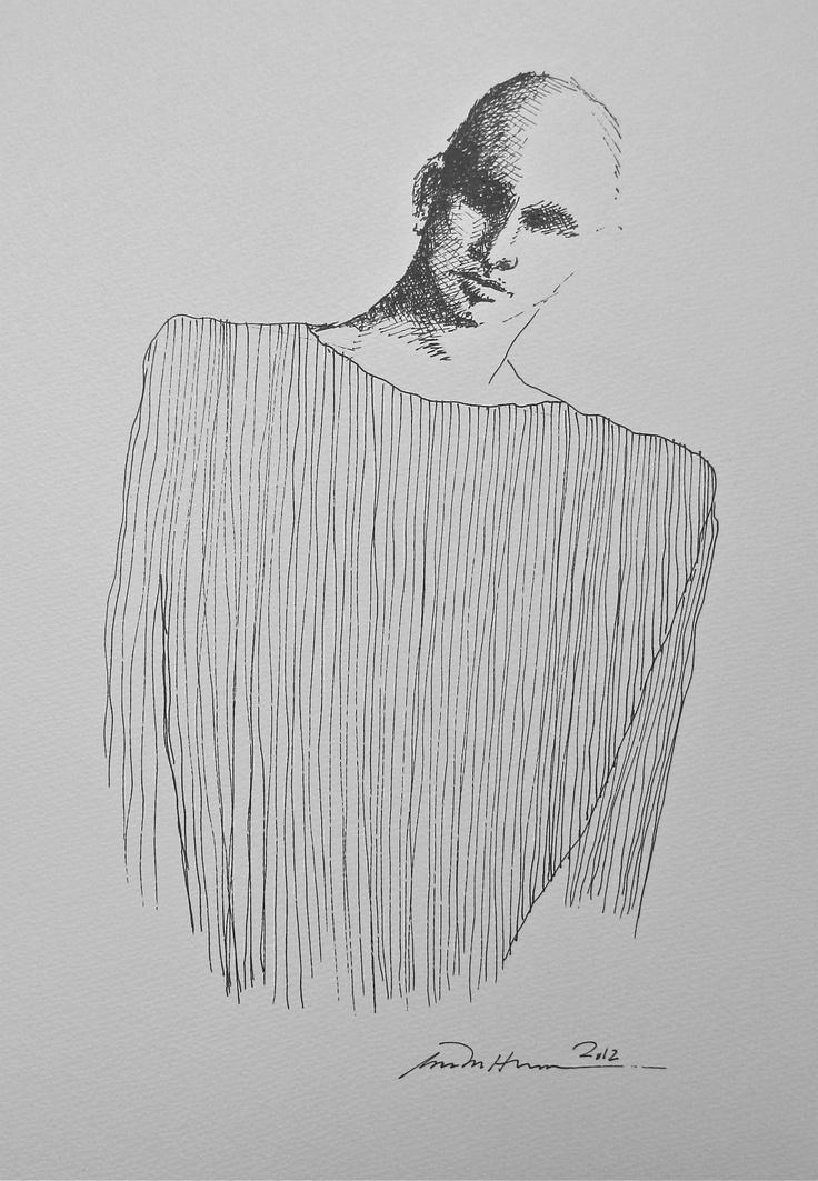 Åse Margrethe Hansen/The Man. Ink drawing, 2012