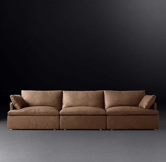 Cloud Track Arm Modular Leather Sofa Leather Sofa Modular Design Sofa