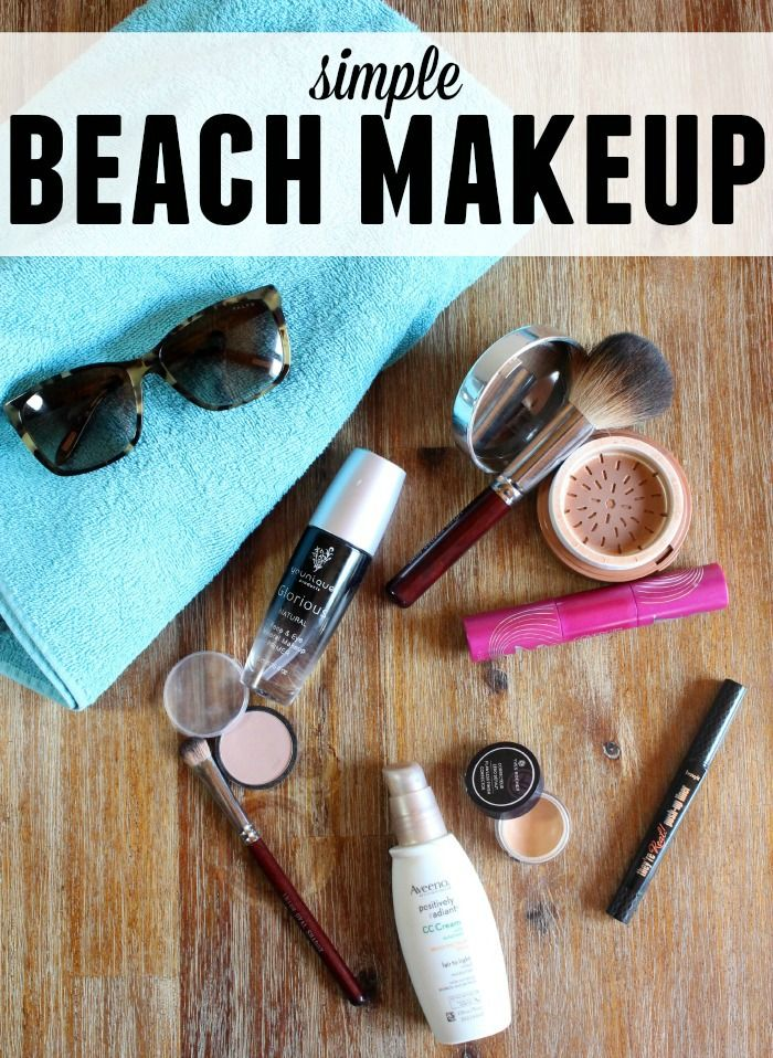 Simple beach makeup tutorial for when you're heading out to spend the day by the pool. Water resistant and with SPF it's the perfect look!
