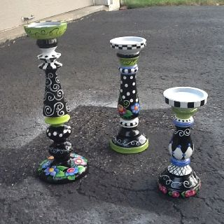 My whimsical painted candlestick project!