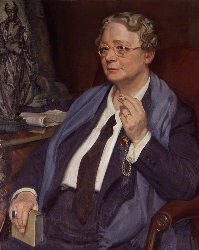 Dorothy Leigh Sayers c. 1949-50 by Sir William Oliphant Hutchison (Scottish 1889 - 1970)