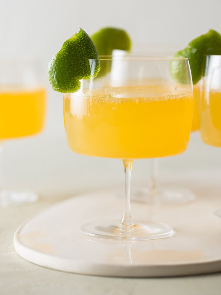 Citrus and Ginger Champagne Cocktail