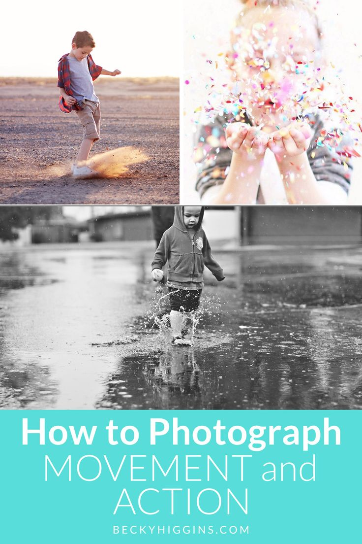 Tips on how to get better photos when your subject is moving or when you're trying to take an action shot!