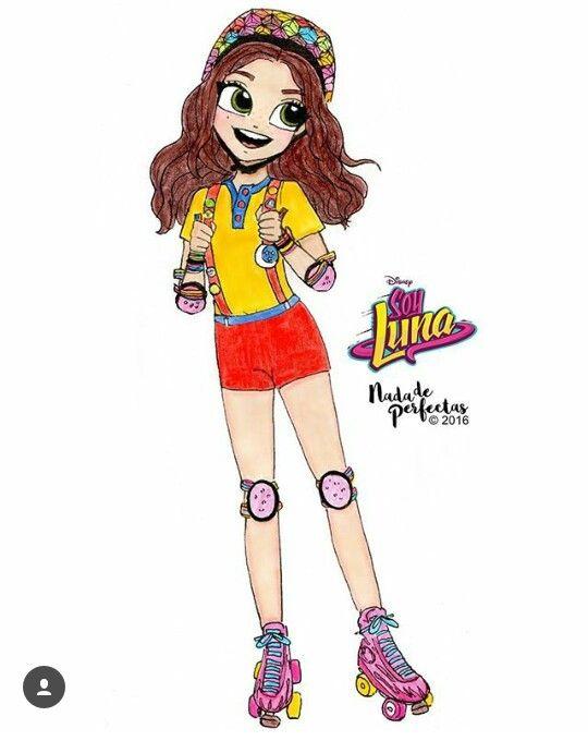 Luna con la ropa informal de Delivery con sus patines!!