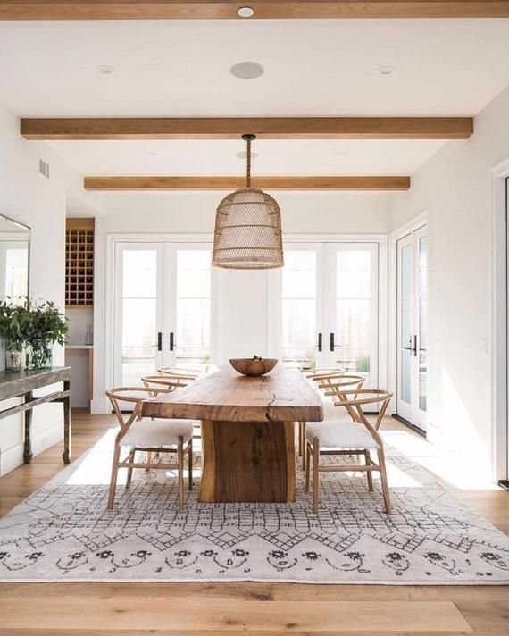 Dining Table In The Style Of Live Edge Solid Wood Acacia Original Design And Accessor Scandinavian Dining Room Dining Room Table Decor Wood Dining Room Table