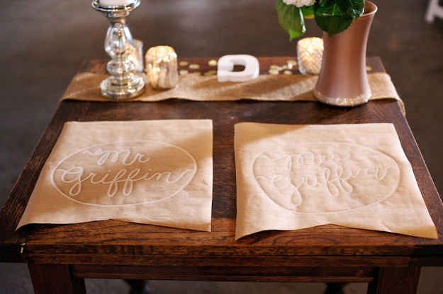Simple Craft Paper Placemats | 37 Things To DIY Instead Of Buy For Your Wedding