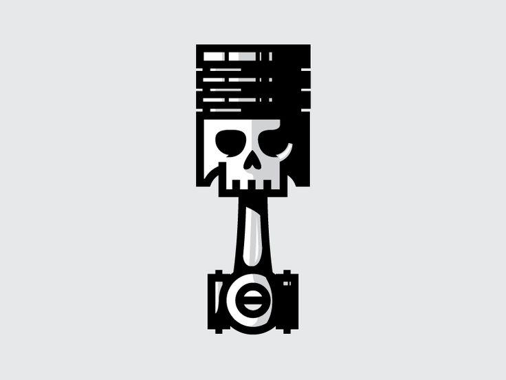 Skull Piston icon by Nick Slater