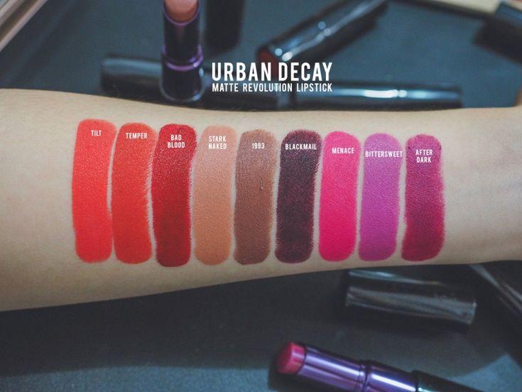 Urban Decay Matte Revolution Lipsticks Tilt Temper Bad