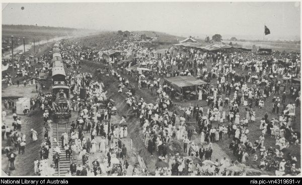 Crowds at the opening of the Daradgee Bridge near Innisfail, Queensland, 1924