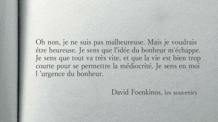 "David Foenkinos ""Les souvenirs"""