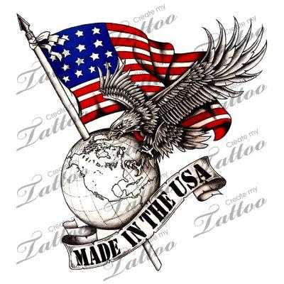 Marketplace Tattoo Made in the USA #2418 | CreateMyTattoo.com
