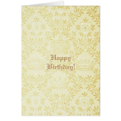 #Crown Happy Birthday Card - #birthday #gifts #giftideas #present #party