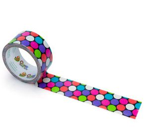 Polka Dot Duct Tape Shelf Markers - library learners