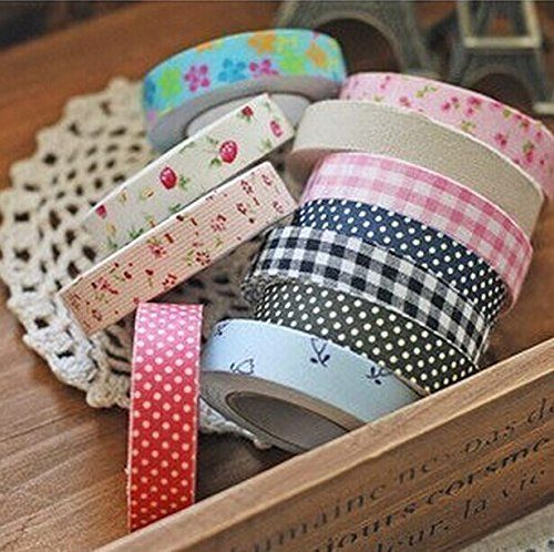 5PCS DIY Cotton cloth tape sticker album diary decorative Random color >>> Check out this great product.