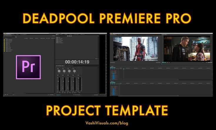 Adobe Premiere Template. moving and arranging text and objects ...