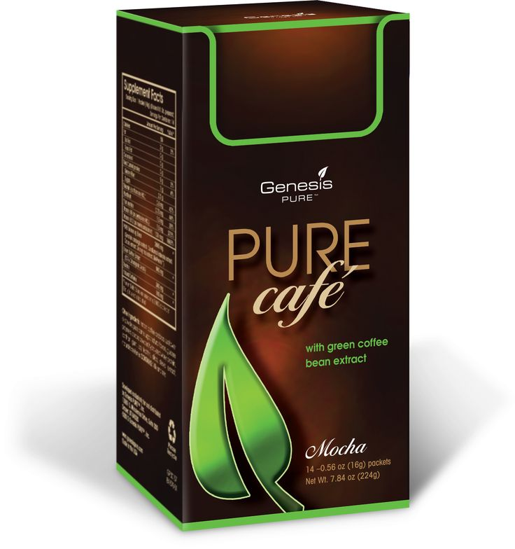 Start your morning with a rich, warm cup of PURE Café or enjoy over ice on a sunny afternoon. This versatile and delicious beverage made by Genesis PURE™ is an elegant blend of green coffee bean extract and roasted coffee beans to provide a robust mocha flavor with added ingredients to energize both your mind and your body.